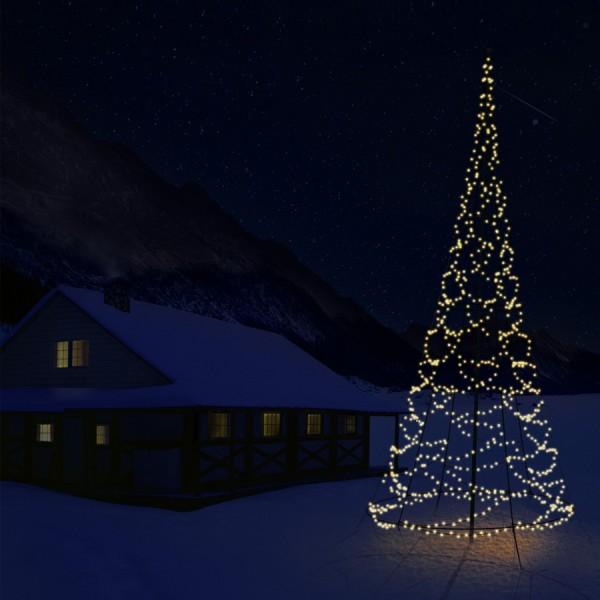 weihnachtsbaum beleuchtung f r ihren fahnenmasten. Black Bedroom Furniture Sets. Home Design Ideas