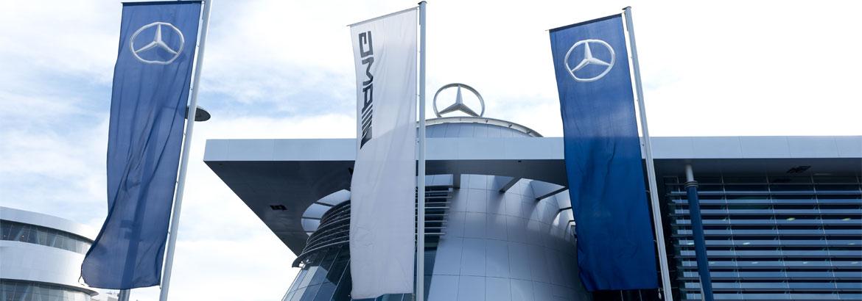 Fahnenmasten Mercedes-Benz Niederlassung Stuttgart