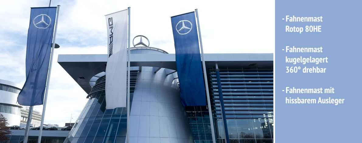Fahnenmast Mercedes Benz Stuttgart