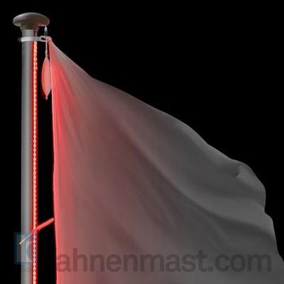 fahnenmast mit led lichtband hissvorrichtung innenliegend. Black Bedroom Furniture Sets. Home Design Ideas